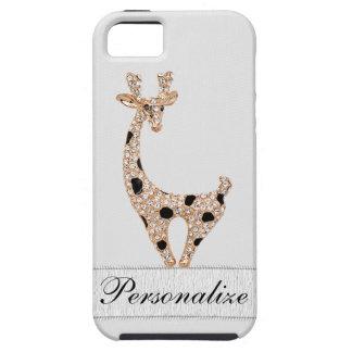 Niedliche Druckgoldgiraffe u. -diamanten iPhone 5 Schutzhülle