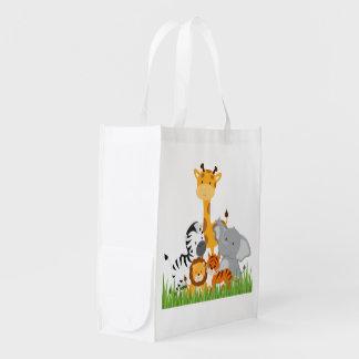 Niedliche Dschungel-Baby-Tier-wiederverwendbare Einkaufstaschen