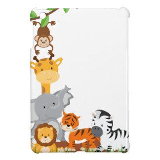 Niedliche Dschungel-Baby-Tiere umkleiden das Savvy iPad Mini Hülle
