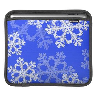Niedliche dunkelblaues und weißes iPad sleeve
