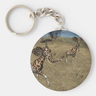 Niedliche Elefant-Giraffen Schlüsselanhänger