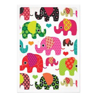 Niedliche Elefant-Kindergeburtstag-Party Einladung