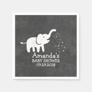 Niedliche Elefant-Tafel-Baby-Dusche Serviette