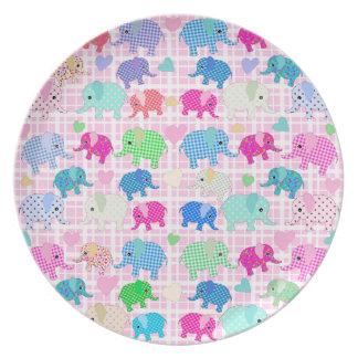 Niedliche Elefanten Melaminteller