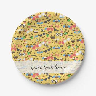 niedliche emoji Liebe hört Pappteller