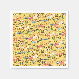 niedliche emoji Liebe hört Servietten
