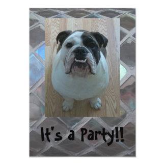 Niedliche englische Bulldoggen-Party Einladungen