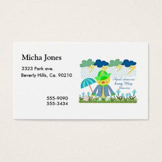 Niedliche Enten-April-Duschen Bring können Blumen Visitenkarte