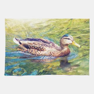 Niedliche Enten-Schwimmen Handtuch