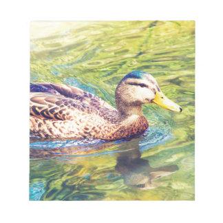 Niedliche Enten-Schwimmen Notizblock