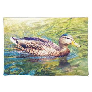 Niedliche Enten-Schwimmen Tischset