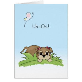 Niedliche Entschuldigungs-Karten-große Grußkarte