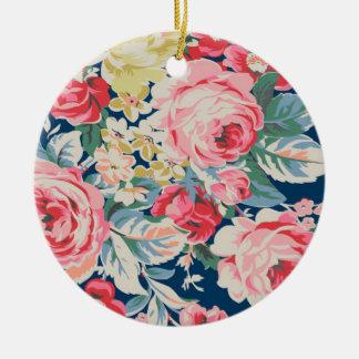 Niedliche entzückende moderne blühende Blumen Keramik Ornament