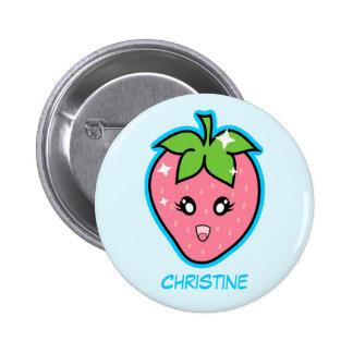 Niedliche Erdbeere Button