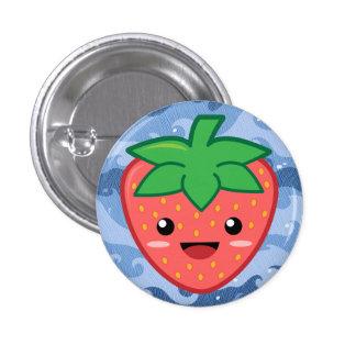 Niedliche Erdbeere Runder Button 3,2 Cm