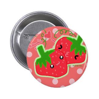 Niedliche Erdbeeren Anstecknadelbutton