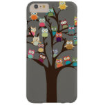 Niedliche Eule auf Hintergrund des Baum-| Barely There iPhone 6 Plus Hülle