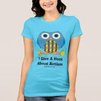 Niedliche Eule geben einen Schrei über Autismus T-Shirt