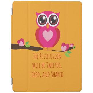 Niedliche Eule mit Revolutions-Ausdruck iPad Smart Cover