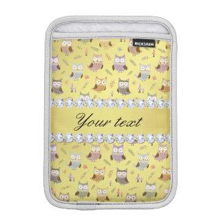 Niedliche Eulen-Imitat-Goldfolie Bling Diamanten Sleeve Für iPad Mini