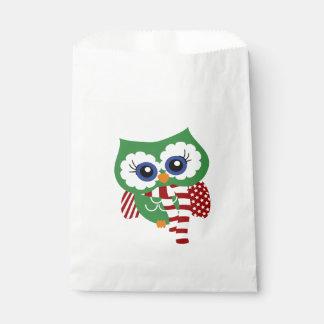 Niedliche Feiertags-Eulen-Bevorzugungs-Taschen Geschenktütchen