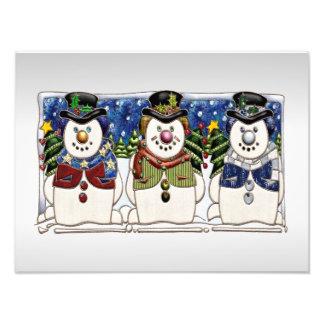 Niedliche festliche Snowmen Photo