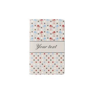 Niedliche Flamingos und Polka-Punkte Moleskine Taschennotizbuch