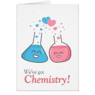 Niedliche Flaschen in der Liebe, haben wir Chemie Karte