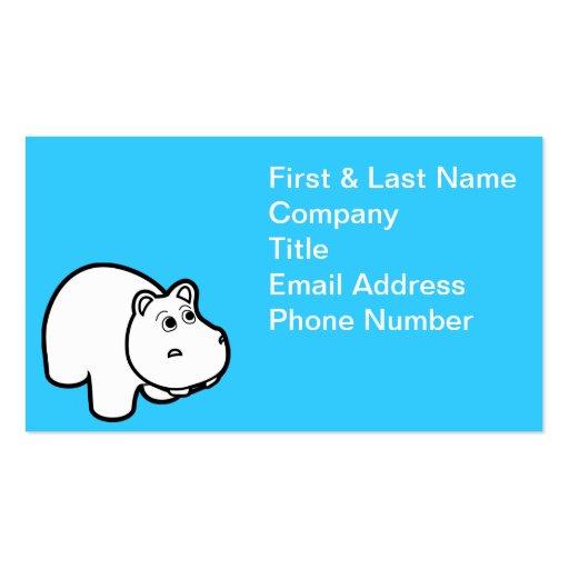 Niedliche Flusspferd-Geschäfts-Karten Visitenkartenvorlage
