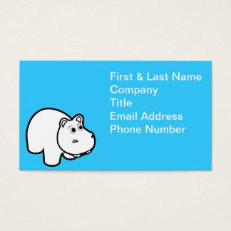 Niedliche Flusspferd-Geschäfts-Karten Visitenkarten