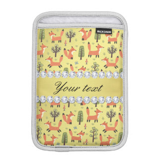 Niedliche Fox-Imitat-Goldfolie Bling Diamanten Sleeve Für iPad Mini