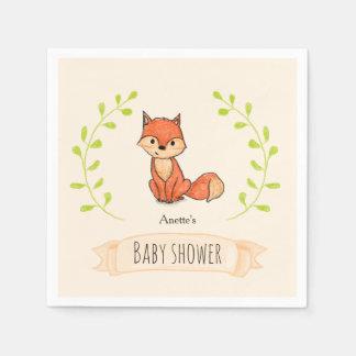Niedliche Fox-Waldbaby-Dusche Serviette