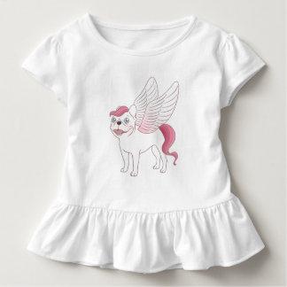 Niedliche französische Bulldogge Pegasus in der Kleinkind T-shirt