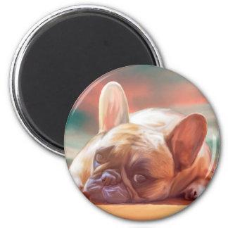 Niedliche französische runder magnet 5,1 cm