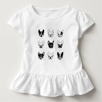 Niedliche Frenchies-Hündchen-Familien-Collage Kleinkind T-shirt