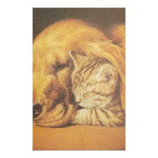 Niedliche freundliche Katze u. HundHakuna Matata Briefpapier