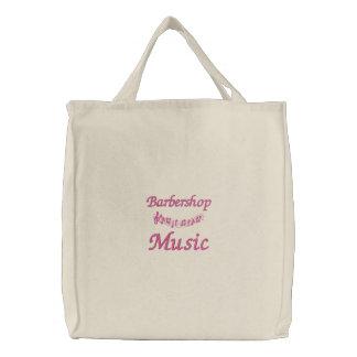 Niedliche Friseursalon-Musik-Taschen-Tasche Bestickte Tragetasche