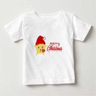 niedliche frohe Weihnachten des Ikonenkissens Baby T-shirt
