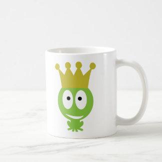 niedliche Frosch-König-Comicart Kaffeetasse