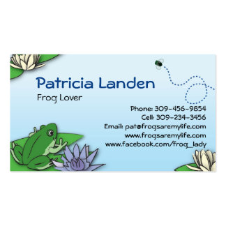 Niedliche Frosch-Visitenkarten Visitenkarten