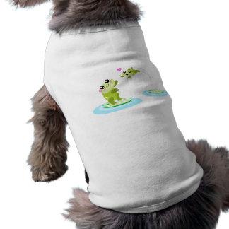Niedliche Frösche - kawaii Mamma und Babyfrosch-Ca T-Shirt