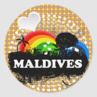 Niedliche fruchtige Malediven Runder Aufkleber