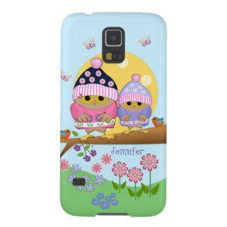 Niedliche Frühlingseulen und -individueller Name Galaxy S5 Hülle