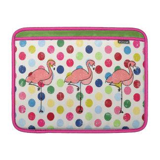 Niedliche Funky Flamingo-bunte Polka-Punkte MacBook Sleeve
