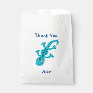 Niedliche Gecko-Eidechse danken Ihnen Namens Geschenktütchen