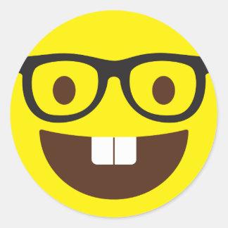 Niedliche Geeky Emoji Aufkleber