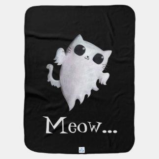 Niedliche Geistkatze Halloweens Kinderwagendecke