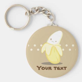 Niedliche gelbe Banane Keychain Schlüsselanhänger