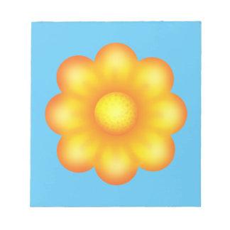 Niedliche gelbe Blume Notizblock