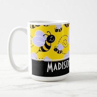 Niedliche gelbe u. schwarze Biene Kaffeetasse